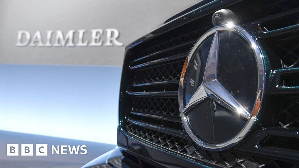 Daimler Profit Warning Sends Car Shares Skidding Bbc News