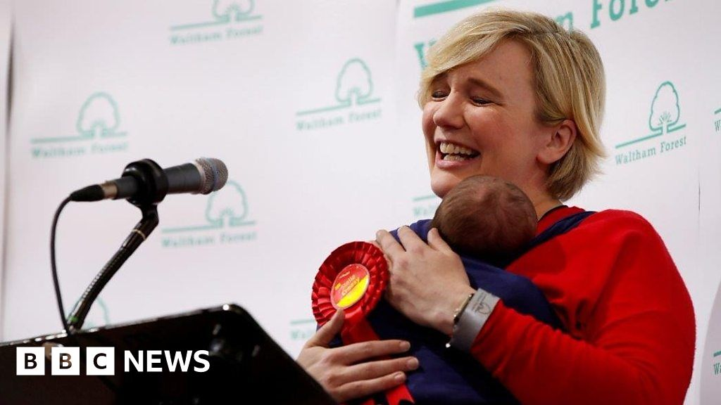 Election 2019: Stella Creasy re-elected - with baby in sling