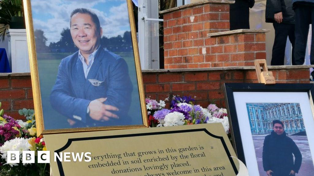 Leicester City helicopter crash: Memorial garden opens