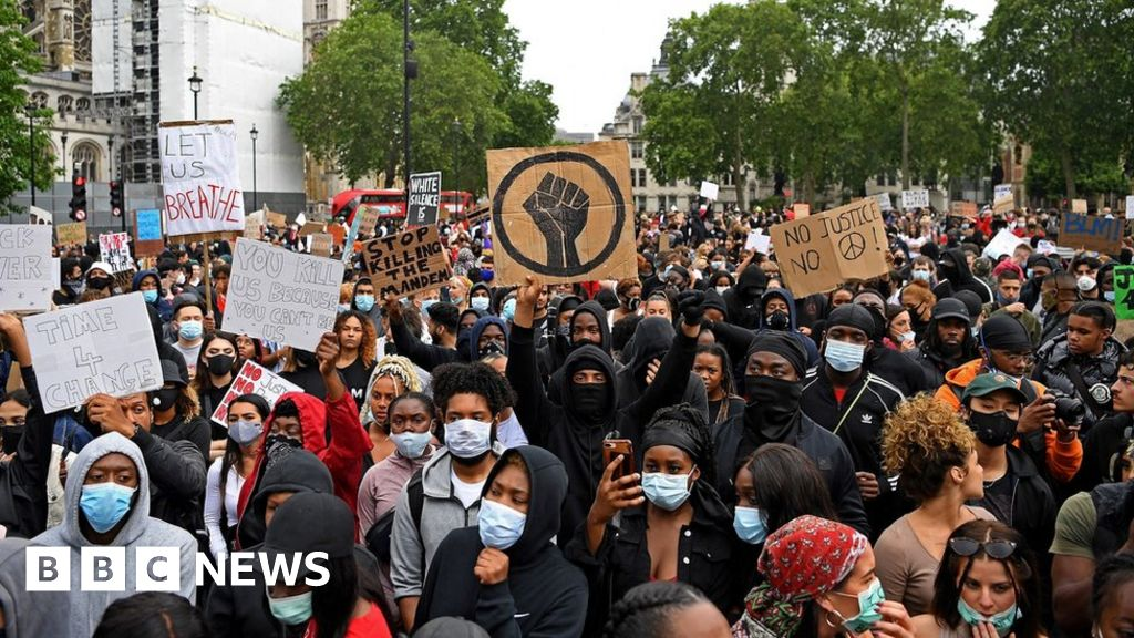 George Floyd s death: thousands join London protest