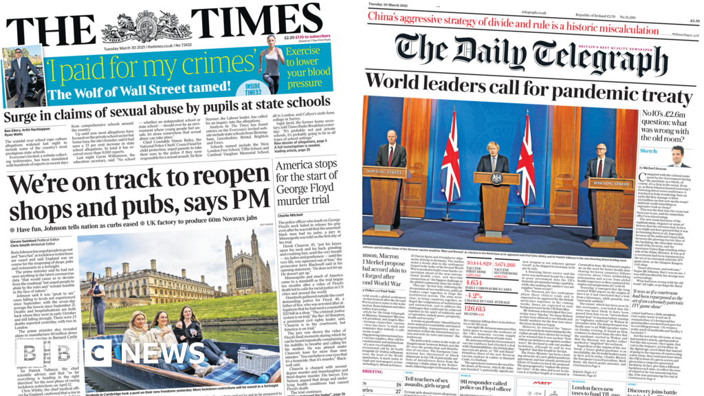 The Papers: England 'on track' to reopen and pandemic treaty plea