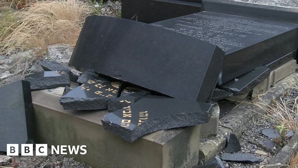 Jewish headstones smashed in 'hate' attack