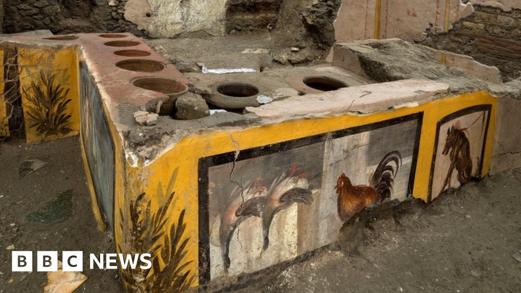 Weird Italy _116267062_tv064955462 Pompeii: Ancient 'fast food' counter to open to the public What happened in Italy today