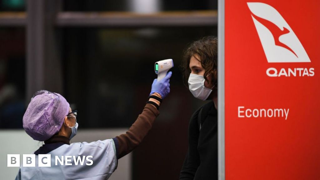 Coronavirus-hit Qantas reports £1bn annual loss