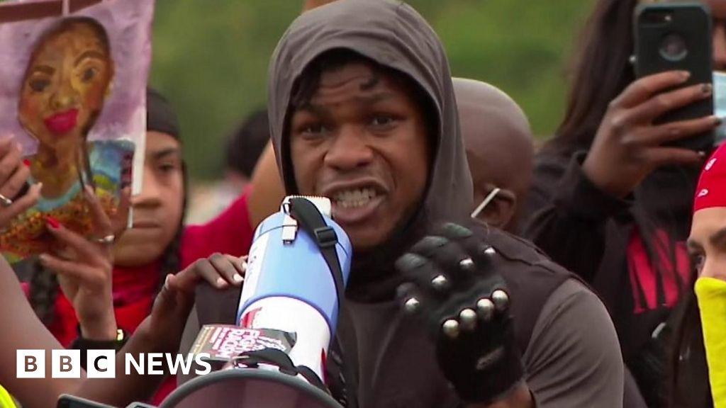 John Boyega speaks at Black Lives Matter march