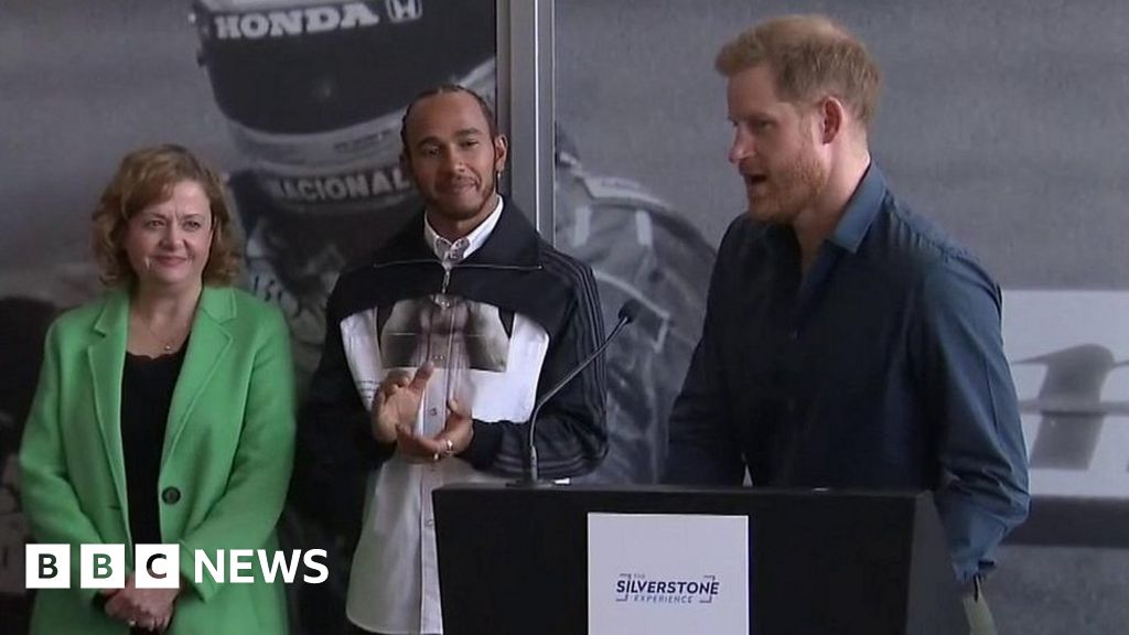 Prince Harry joins Lewis Hamilton to open the Silverstone museum