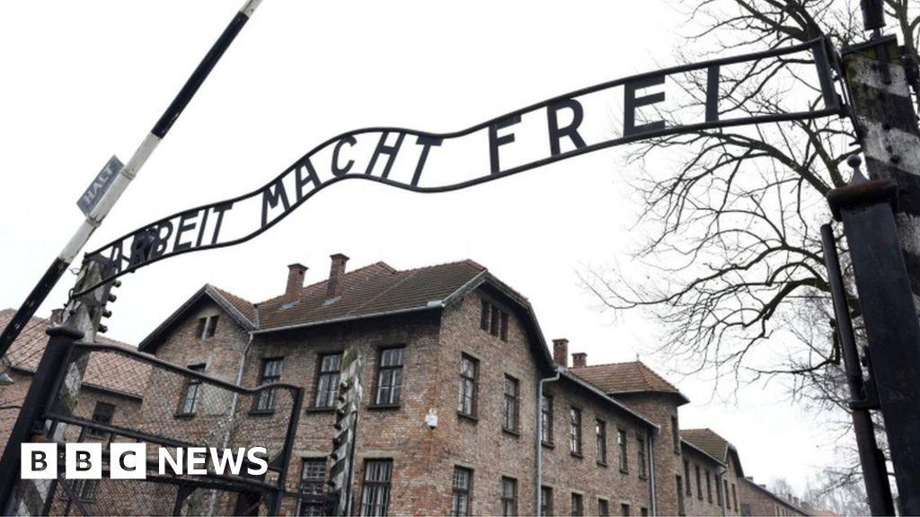Naked demonstrators kill sheep under Auschwitz gates - BBC