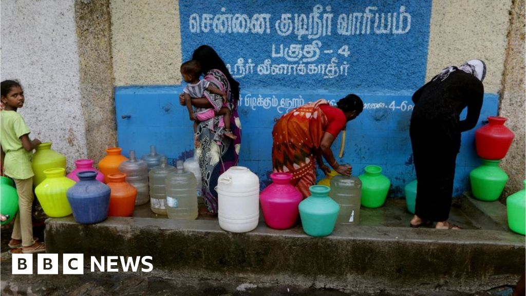 Chennai water crisis: 'We can't do anything' - BBC News