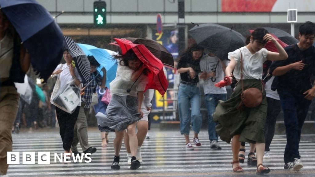 Japan storm cuts power to thousands