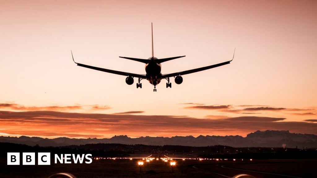 Laser shone at plane approaching airport