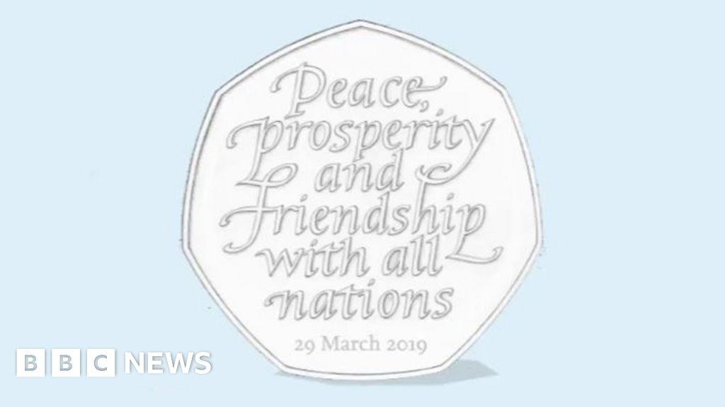 Brexit 50p coins to be  recycled  after PM accepts extension