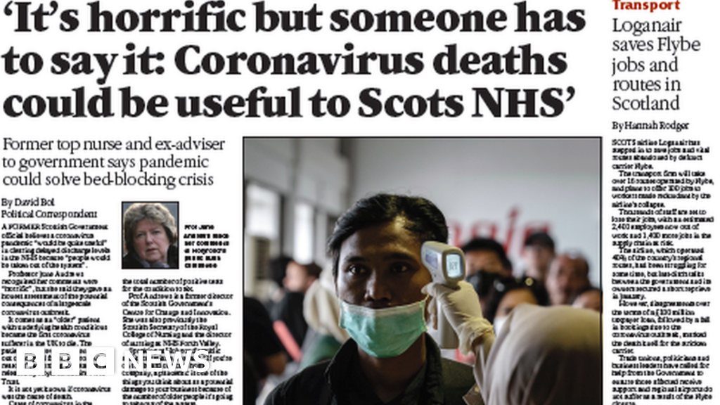 scotland u0026 39 s papers  coronavirus deaths  u0026 39 could be useful for