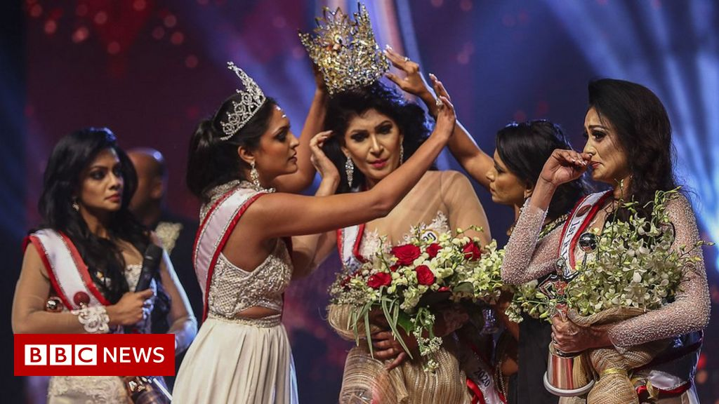 The 'beauty queen of Sri Lanka' is wounded in a wet on stage