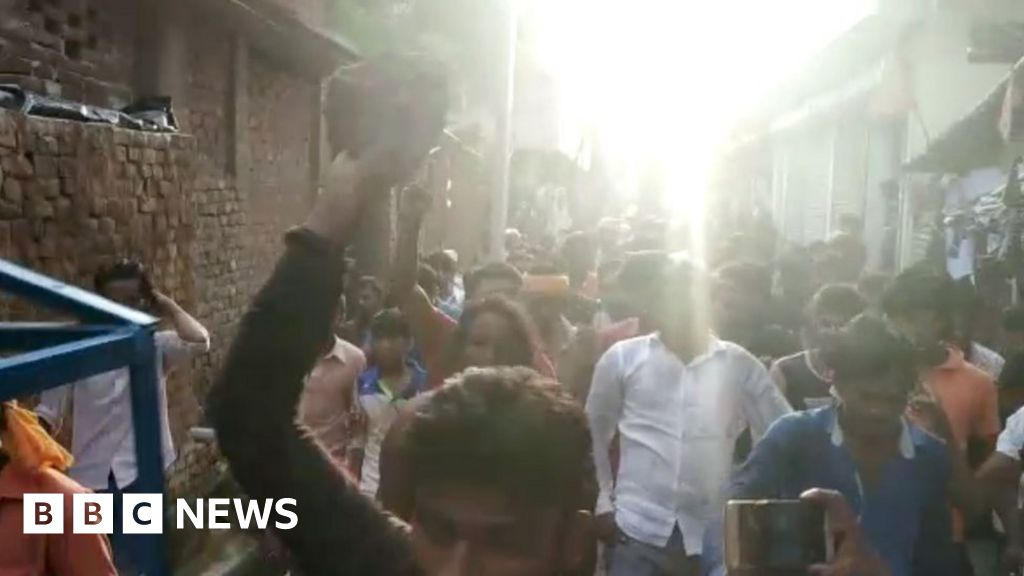 India woman beaten and paraded naked by mob