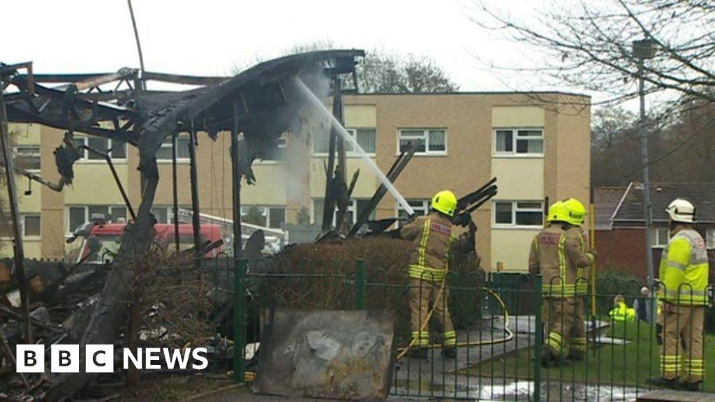 tears as blaze hits cwmbran infants school bbc news. Black Bedroom Furniture Sets. Home Design Ideas