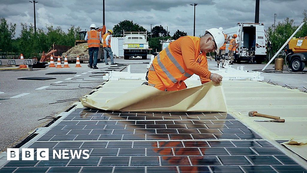 Could Solar Roads Help Generate Electricity Bbc News
