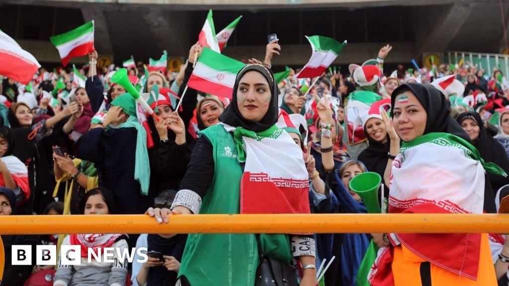 Iran women attend first football match in decades