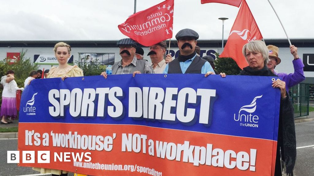 'Dickensian' protest against zero-hour contracts at Sports ...