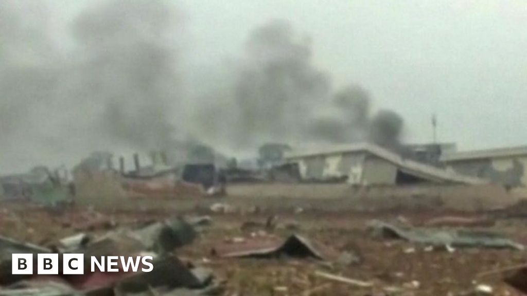 Big explosions rock Equatorial Guinea's foremost metropolis