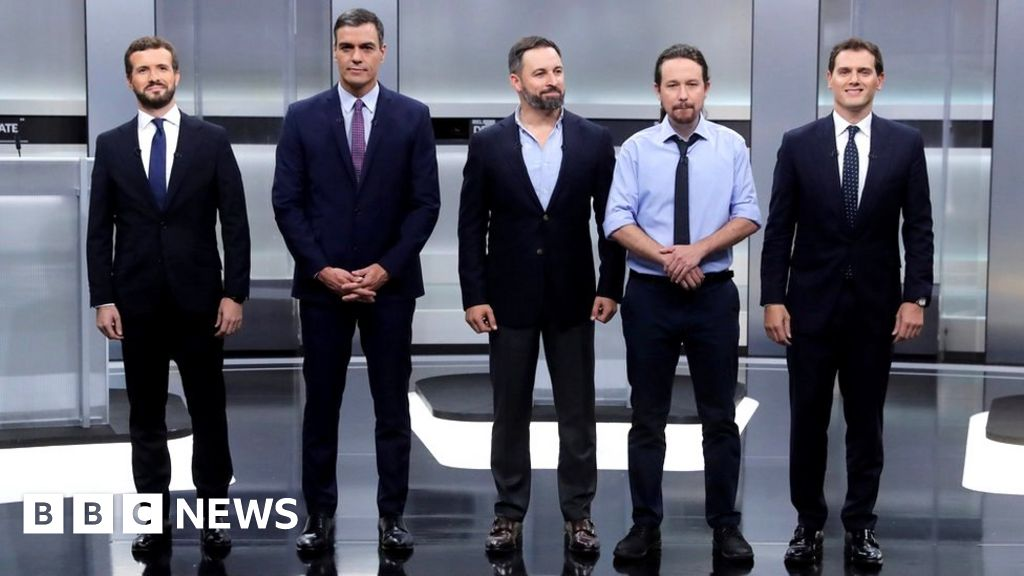 Spanish election: Five face off in race to run Spain