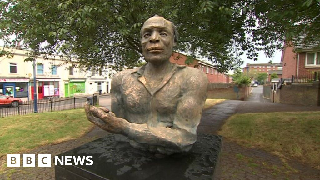 Black playwright s statue in Bristol doused in  bleach