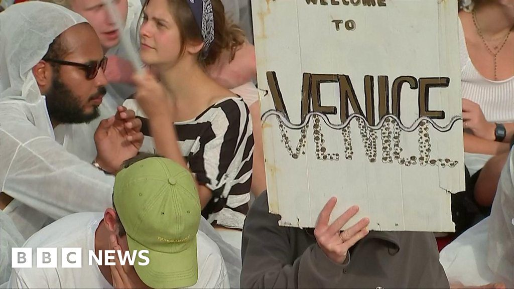 Venice Film Festival: Climate protesters hold red carpet sit-in