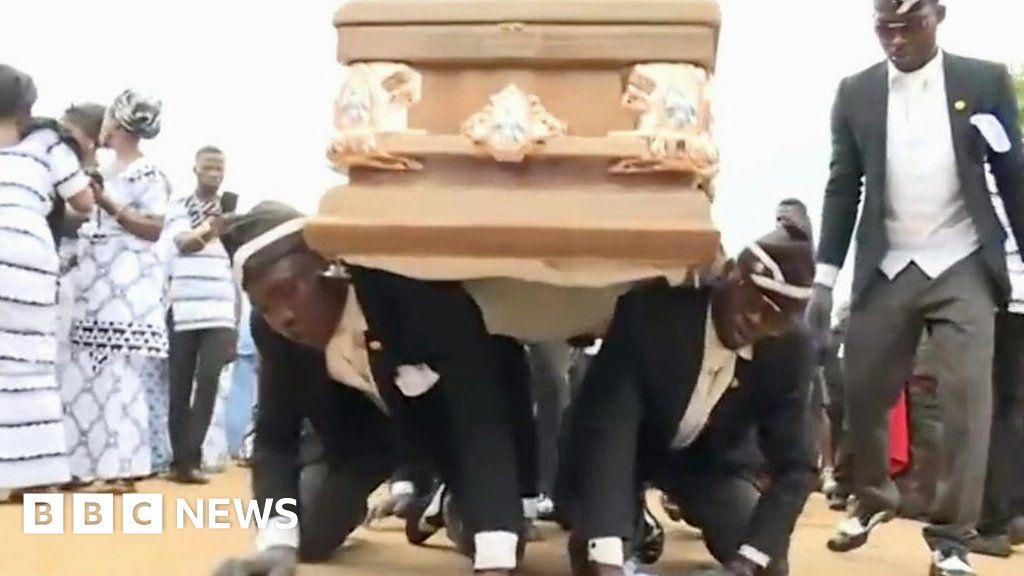 Coronavirus: Ghana's dancing pallbearers become Covid-19 meme - BBC News