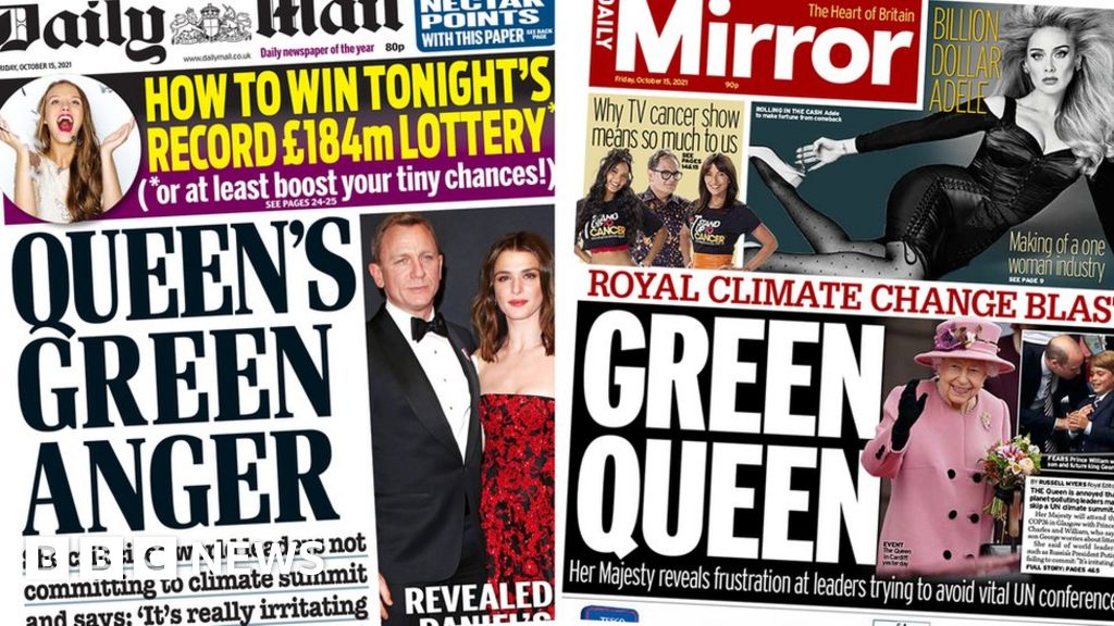 Newspaper headlines: Green Queen 'vents her anger', and pig crisis