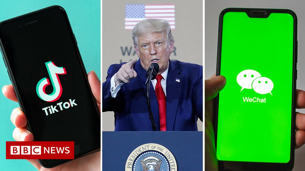 TikTok threatens legal action against Trump US ban - BBC News