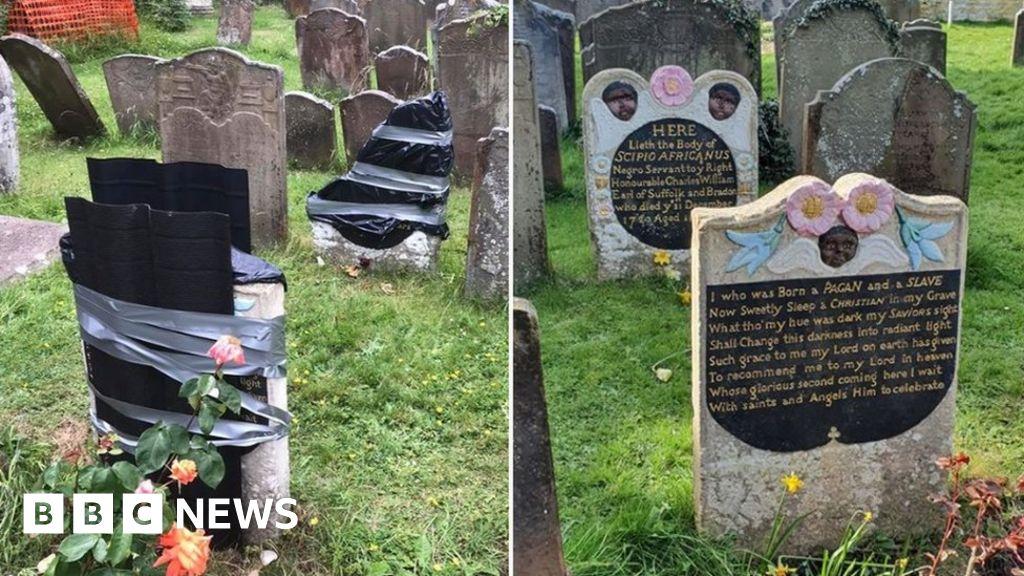 Enslaved African man s tomb-stone in Bristol ravaged