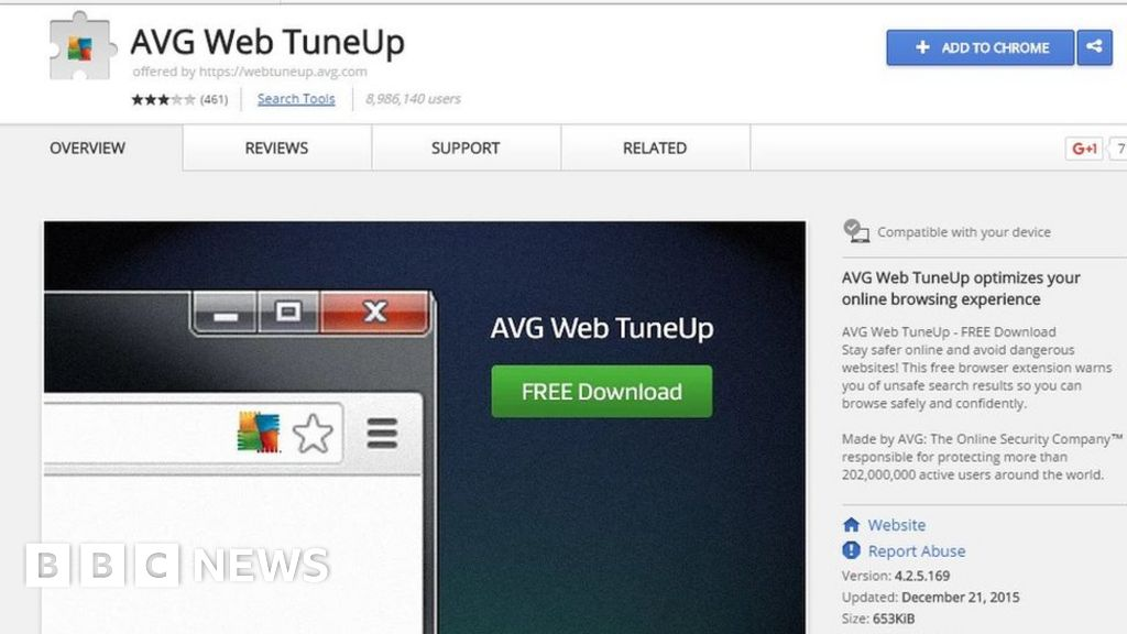 AVG's Web TuneUp put millions of Chrome users at risk - BBC News