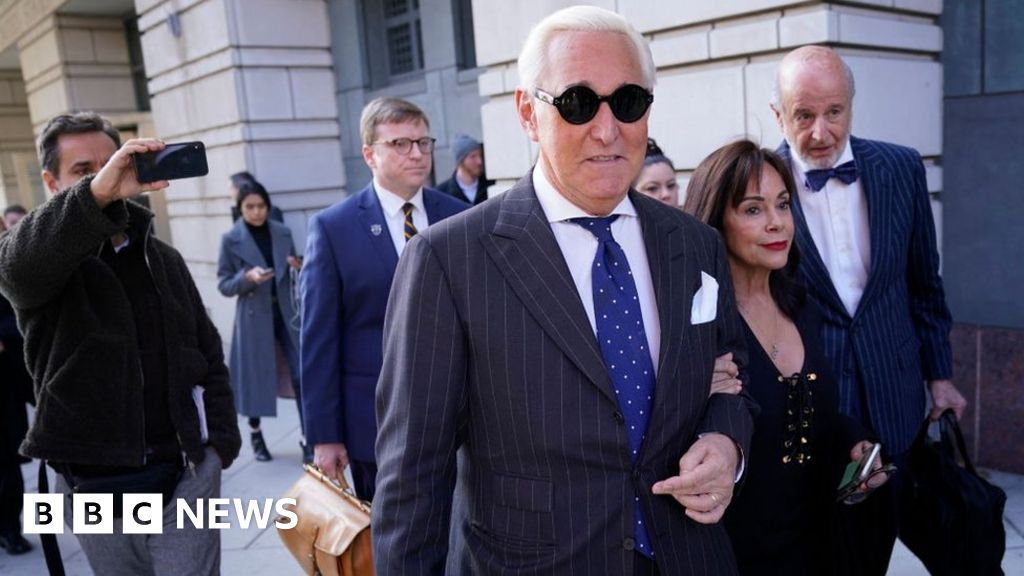 BBC News America Trump ally Roger Stone sentenced to prison thumbnail