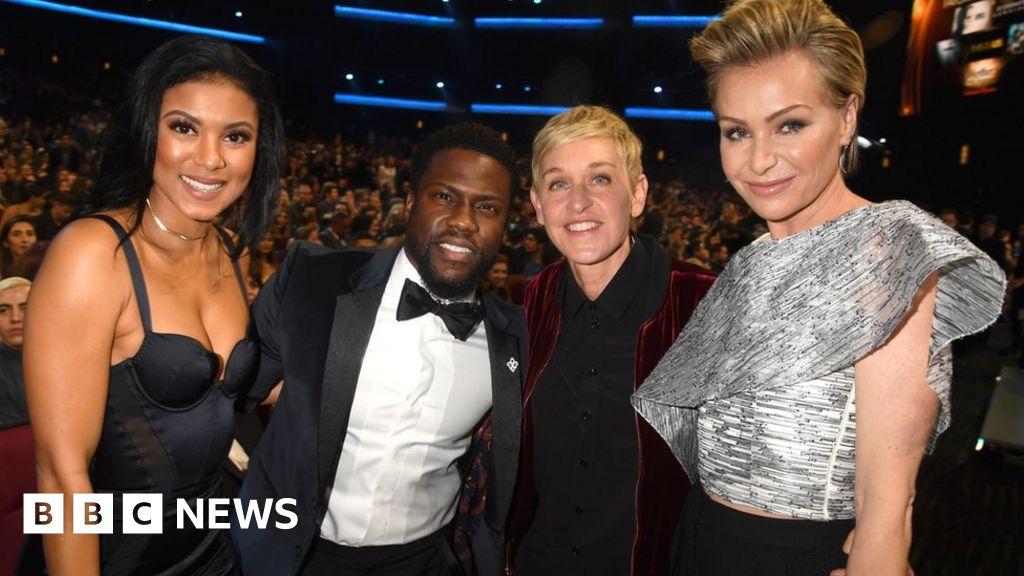 113816303 hart1 getty - Ellen DeGeneres: Stars back TV host amid 'toxic workplace' claims