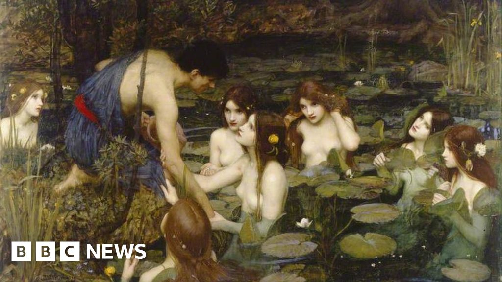Victorian nymphs painting back on display after censorship row