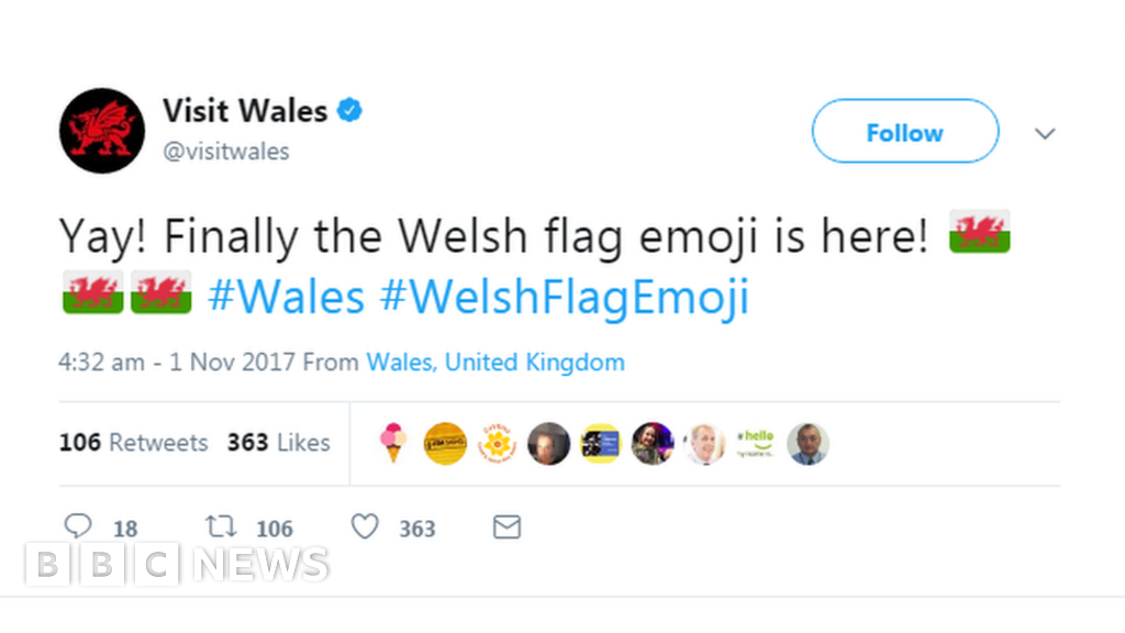 Wales flag emoji finally arrives on Apple products - BBC News