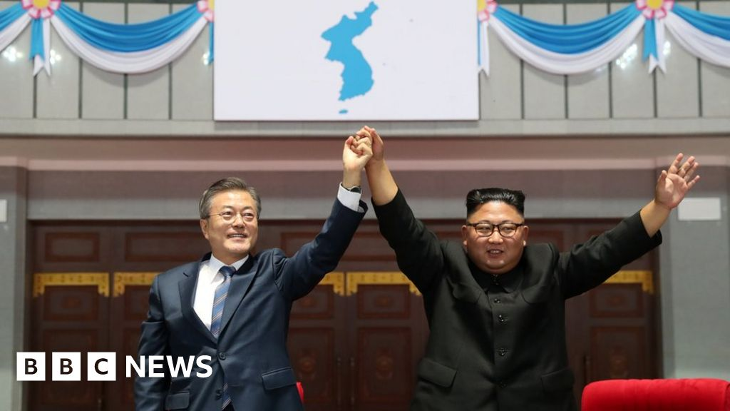 South Korea's Moon Jae-in makes unprecedented mass games speech