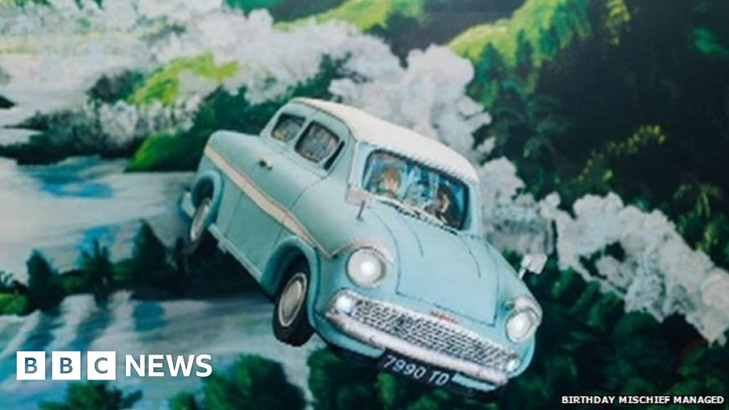 'Harry Potter and The Magical Cakes': Bakers conjure birthday treat - BBC  News