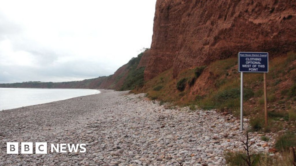 Nudists angry at Budleigh Salterton beach extension block
