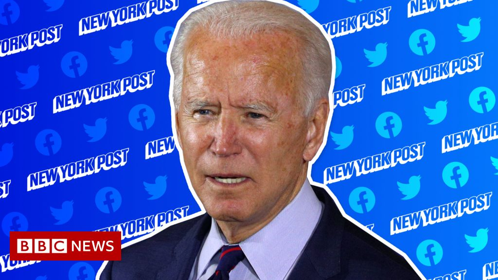 Twitter and Facebook's action over Joe Biden article reignites bias claims - BBC News