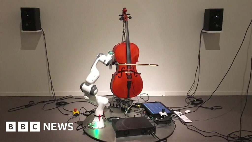 Click News: The cello playing robot