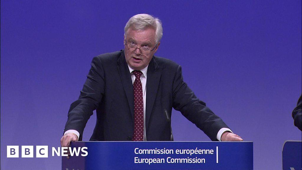 UK Brexit secretary 'encouraged by progress' in Brexit ...