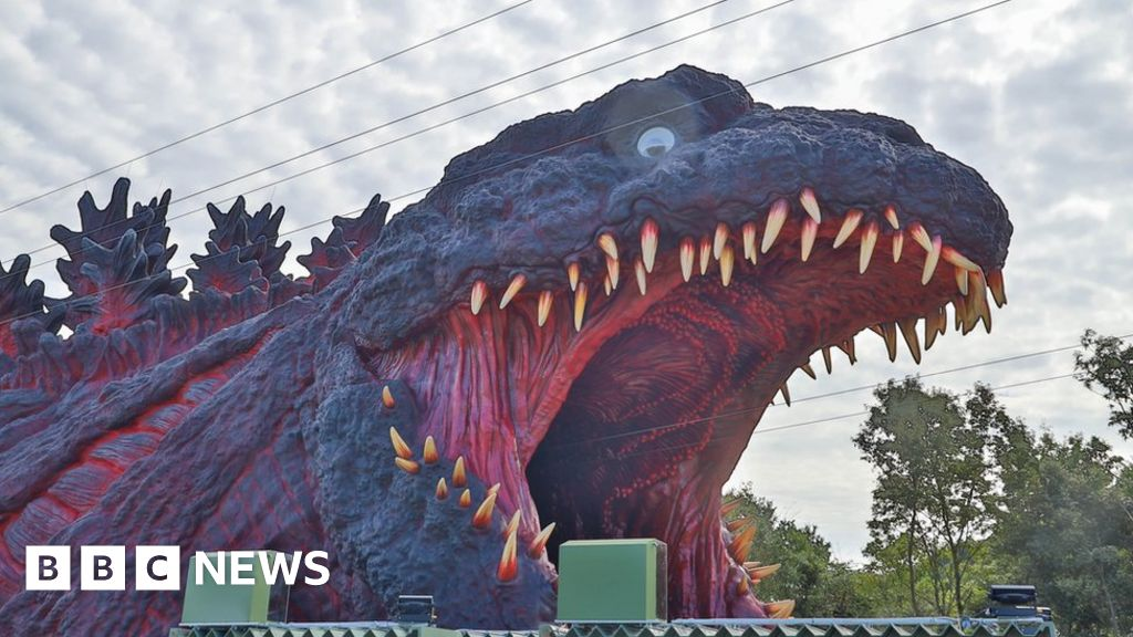 Japanese theme park unveils 'life-size' Godzilla attraction