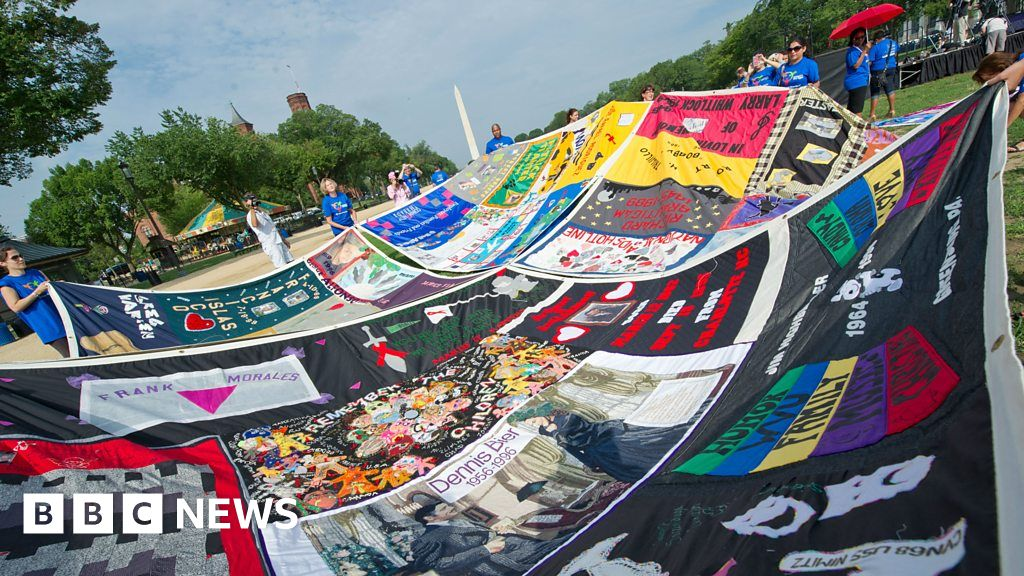 """The """"Aids quilt , which showed that the scale of suffering"""