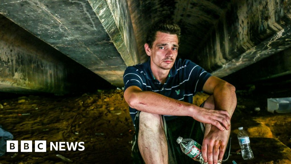 As an open-air heroin camp is closed, options narrow - BBC News