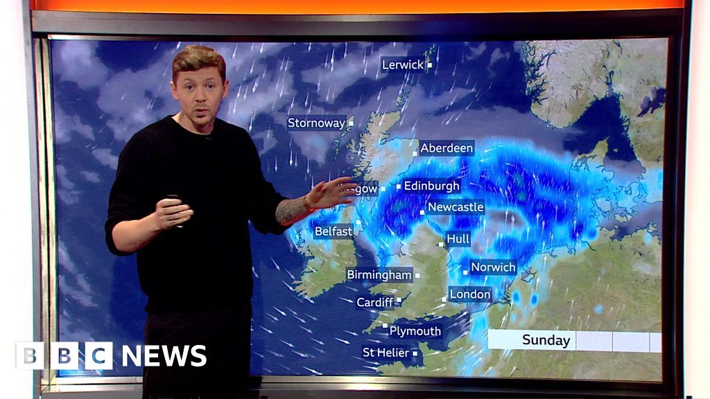 Professor Green presents the weekend weather with a little help from BBC Breakfast.