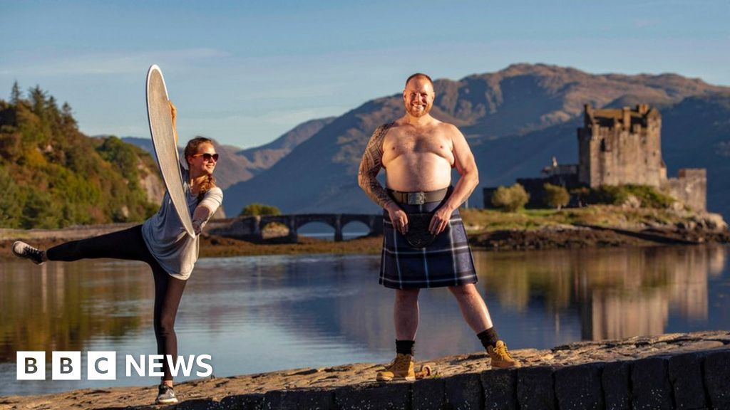 Twenty-stone Scots wrestler swapped the ring for the runway