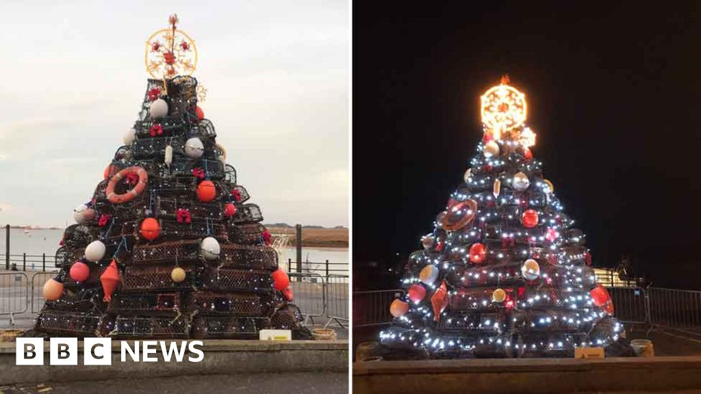 Wells-next-the-Sea crab pot Christmas tree is a festive hit