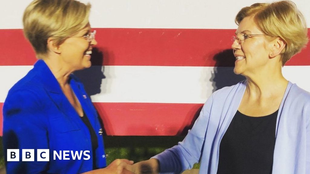Elizabeth Warren meets her doppelganger thumbnail