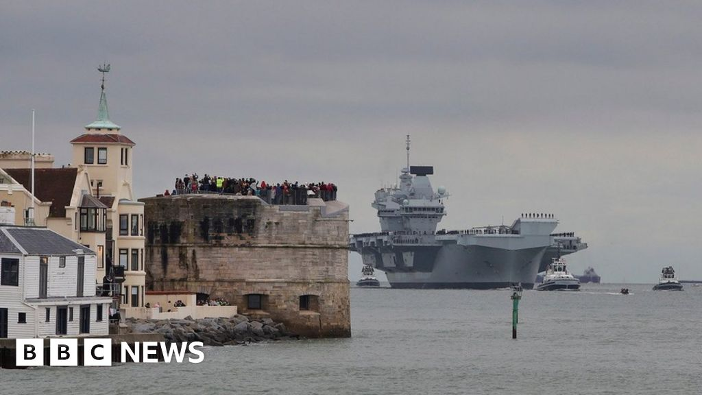 HMS Prince of Wales: Navy ship arrives in Portsmouth