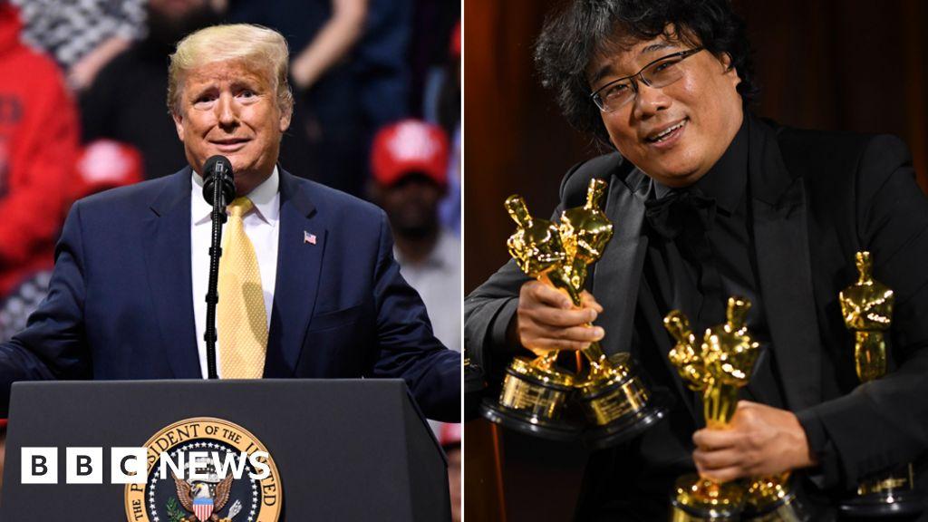 Trump mocks Oscars Best Picture winner Parasite